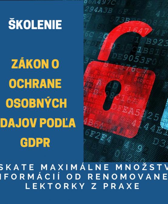 Ochrana osobných údajov podľa GDPR 30.01.2018 BB