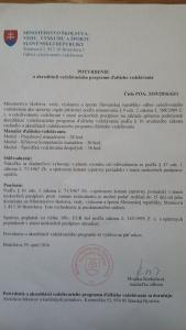 MDV potvrdenie o akreditácii