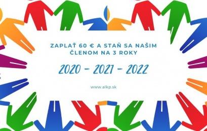 Mimoriadna ponuka: členstvo v ALKP na 3 roky len za jednoročný členský poplatok!