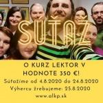 SÚŤAŽ O KURZ LEKTOR V HODNOTE 350 €!