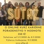 RÝCHLA SÚŤAŽ O ONLINE KURZ KARIÉRNE PORADENSTVO V HODNOTE 350 €!