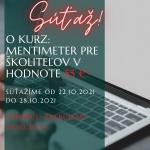 SÚŤAŽ O KURZ MENTIMETER PRE ŠKOLITEĽOV V HODNOTE  55 €!