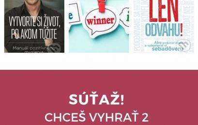 Chceš vyhrať 2 motivačné knihy? Súťaž!