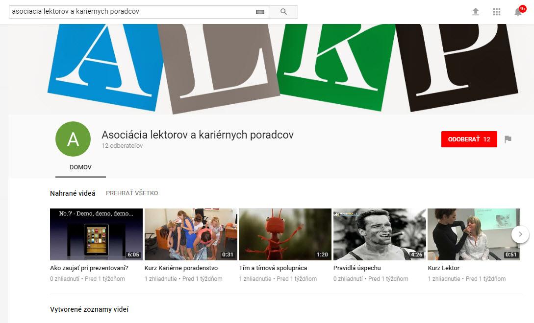 Ďalšie videá nájdete na youtube kanály ALKP