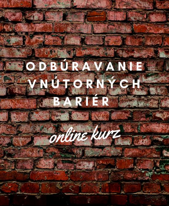 Odbúravanie vnútorných bariér – online kurz